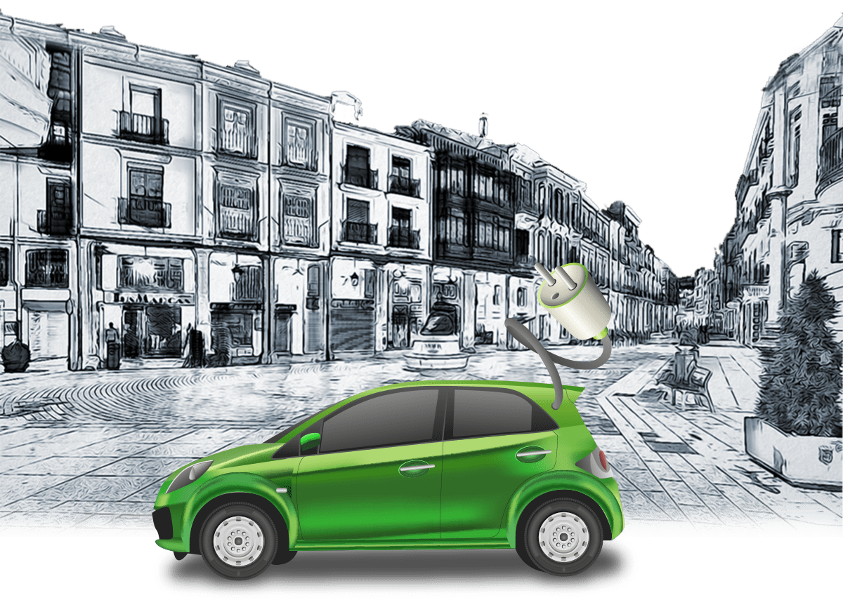 vehicles driven by clean energies through the streets of Palencia